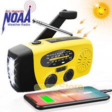 Emergency Weather Radio Hand Crank Solar Survival NOAA AM FM 3LED Flashlight Kit