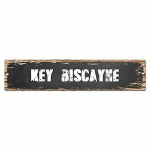 SP0348 KEY BISCAYNE Street Sign Bar Store Cafe Home Kitchen Chic Decor Gift