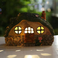 Mini Casa Giardino Ad Energia Solare HA CONDOTTO LA Luce Cortile Paesaggio Fata