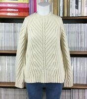 THIERRY MUGLER jumper sweater skeleton designer rare cream UK 10 US 6