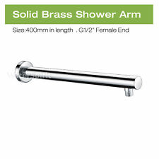 Bathroom 400mm Wall Mounted Shower Arm Rail Extension Replacement Round Chrome