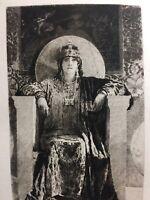 Antique French Art Print 1888 THEODORA Roman Empress On Throne