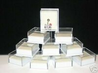 50 X SMALL CLEAR BOXES FOR BODY JEWELLERY/BELLY BARS