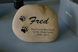 Large Garden Memorial River Stone For Pets or People