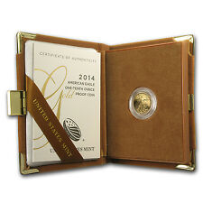 2014-W 1/10 oz Proof Gold American Eagle (w/Box & COA) - SKU #79356