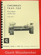 CINCINNATI Tray Top Metal Lathe Operator & Parts Manual 0129