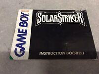 Nintendo Gameboy Solar Strike Manual Only