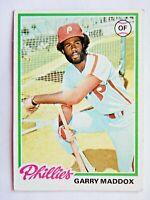 Garry Maddox #610 Topps 1978 Baseball Card (Philadelphia Phillies) VG