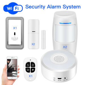 WiFi Security Alarm System Remote Control Door Sensor House Burglar Night-Light