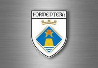 Sticker decal souvenir car coat of arms shield city flag spain formentera