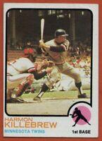 1973 Topps #170 Harmon Killebrew VG-VGEX+ Wrinkle Minnesota Twins FREE SHIPPING