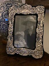More details for a lovely antique sterling  silver photo frame. free postage.