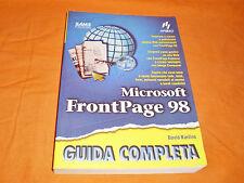 microsoft frontpage 1998 guida completa apogeo 1998