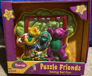 Barney Puzzle Friends Swing Set Fun 2002 Fisher Price New
