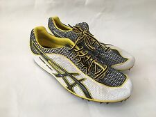 ASICS G003N 0190 MEN'S TURBO GHOST 3 TRACK RUNNING SHOES SPIKES WH/BK/YL 7