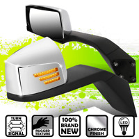 {Sequential LED} Stripe Turn Signal Side Hood Mirrors for Volvo VN Series 04-18