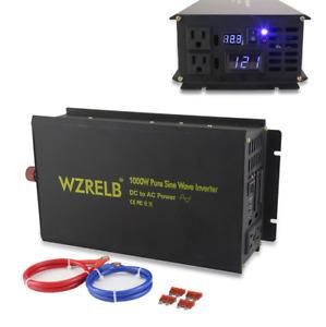 1000W Pure Sine Wave Inverter 36/48V DC to 120/220V AC Power Inverter Convert