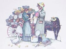 Norman Rockwell Print Carpet Bagger Comes to Town Great Condition