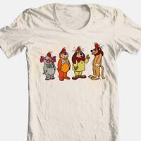 Banana Splits Lineup T-shirt Saturday morning 80's cartoons cotton beige tee