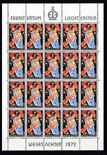 Briefmarken aus Liechtenstein mit Feiertags-und Weihnachts-Motiv