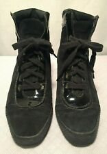 Stuart Weitzman Unique Vintage High Top Laced Up Booth Style Suede Shoes