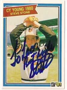 Steve Stone 1981 Donruss Card Signed