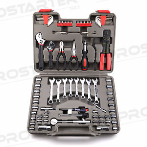 LANDWORKS 91Pcs Mechanics Tool Kit.Bonus 100Pcs Cable Tie Set
