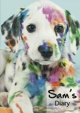 2021 diary colourful Dog personalised with your name A5