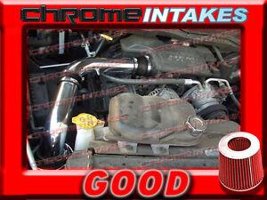 BLACK RED 2002-2010 DODGE RAM 1500/2500/3500 3.7/4.7/5.7L COLD AIR INTAKE KIT