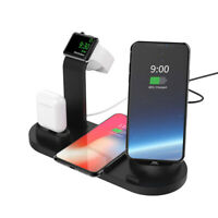 6 in 1 Qi Wireless Charger Dock USB Station For Apple iWatch AirPods iPhone 8 XS