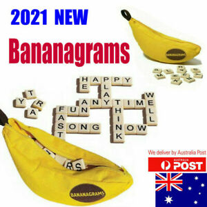 New 2021 Bananagrams Crossword Family Fun Game Word Play English spelling AUS