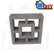 Grey Cubic Concrete Screen Blocks 295mm x 295mm x 95mm