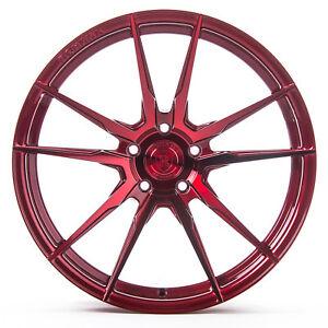 "20"" Rohana RF2 Gloss Red Concave Wheels for Hyundai"