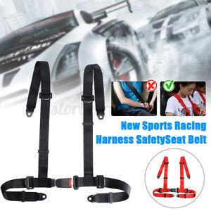4 Point Car Racing Bucket Seat Belt Harness Adjustable Universal Fixing