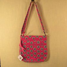 Vera Bradley - Triple Zip Hipster - Pink Swirls Flowers - Cross Body Bag / Purse