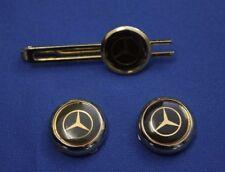 Vintage Mercedes logo tie clip - Button cover Mercedes gold color