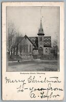 Postcard Tillsonburg ON c1905 Presbyterian Church 4 CDS Cancels 2 Duplex