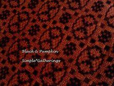 "WOVEN TABLE RUNNER BLACK PUMPKIN HAMPTON Oval Design Rectangle 32"" x 13"" Cot Ac"