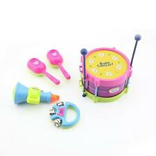 Musical Instruments Toy Set Drums Handbell Trumpet Cabasa For Baby Pack of 5 PCS