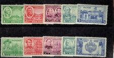 1936-7 U.S. Army Navy Issue COMPLETE SET Sc#785-94 M/H/OG Fresh