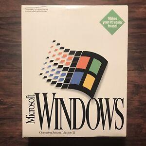 "Microsoft Windows 3.1 Operating System 3.5"" Floppy Big Box Brand New & Sealed"