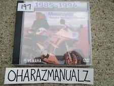 1985-1994 Yamaha Motorcycle Service Manual OEM on DVD