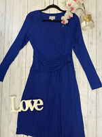 Pure collection Size 14 cobalt blue stretchy work office business career dress