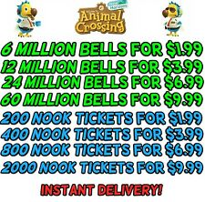 Animal Crossing:New Horizons Bells, Nook Miles Tickets, FishBait Fast Delivery!