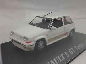 Renault 5 GT Turbo 1989 white 1/43 1 43 UNIVERSAL HOBBIES MIB