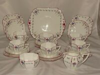 21 piece Shelley China England Queen Anne afternoon teaset