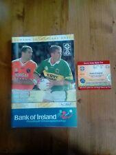 GAA 2002 All Ireland SFC final Kerry v Armagh ticket + official match programme