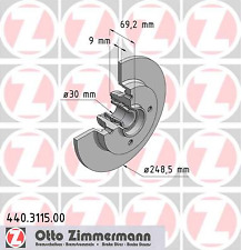 Brake Disc (2 Pcs) - Zimmermann 440.3115.00