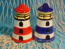 Salz und Pfefferstreuer Leuchtturm 2er Set Keramik maritimes Design ca. 8cm