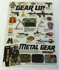 1989 video game ad page ~ METAL GEAR ~ Gear Up ~ Ultra Games
